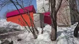 Подвешенный на деревьях силовой кабель угрожает жителям дома на Горизонте