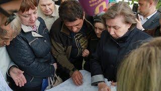 UTV.  Сотни уфимцев вышли на митинг против строительства трамвайной линии под окнами их квартир