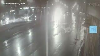 Появилось видео смертельного ДТП в Казани, в котором погиб инспектор ГИБДД