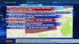 За 3 месяца город заработал на парковках 10,5 млн рублей