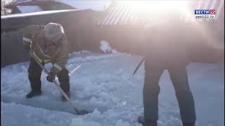 В селе Первокаменка Третьяковского района сковало льдом жилые дома