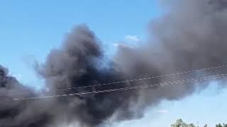 В Краснодаре произошел пожар в ТЦ на Уральской