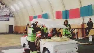 Пожарные и спасатели на скорость ликвидировали ДТП