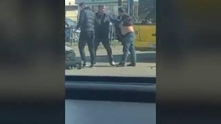 Драка водителей на дороге (Красноярск)
