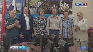 Четыре жителя Петрозаводска получили медали МЧС России