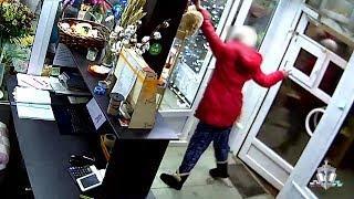 Кража мягкой игрушки в цветочном магазине в Уфе попала на камеру