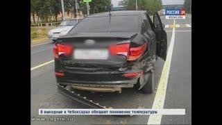 В Чувашии на трассе М-7 пьяный водитель врезался в автомобиль с ребёнком