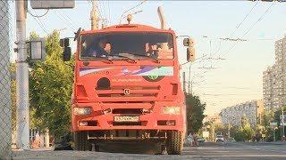 Волгоградские коммунальщики сразу после матча ЧМ приступили к уборке города