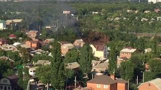 Пожар между Сарьяна и 40-летия Победы в Ростове 25.08.2018