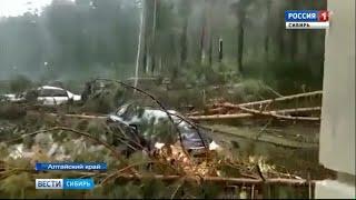На Алтайский край вновь обрушился ураган