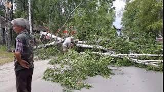Последствия урагана в Тогуре
