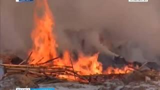 В шести километрах от Канска загорелась нелегальная свалка