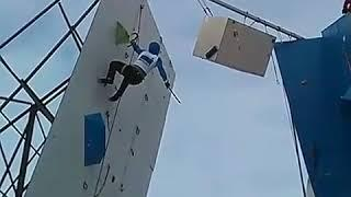 Алтайский спортсмен занял третье место на этапе Кубка России по ледолазанию