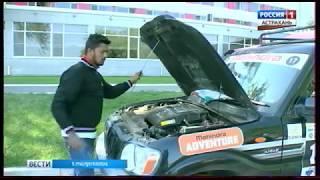 Участники российско-индийского автопробега заехали в Астрахань