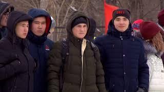 На стадионе «Динамо» саратовские пожарные провели флешмоб