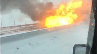 Взрыв машины в ДТП 2018г., трасса М4 Дон