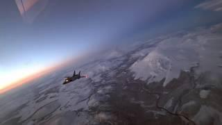 Минобороны показало уникальные кадры дозаправки МиГ-31 в ночном небе над Камчаткой