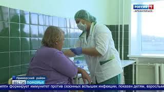 Прививки от гриппа уже сделали 35% северян