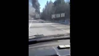 В Сыктывдинском районе горит фура