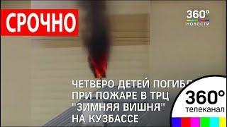 "Четверо детей погибли при пожаре в ТРЦ ""Зимняя вишня"" в Кемерове"