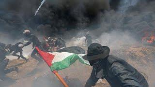 Кровопролитные протесты в секторе Газа