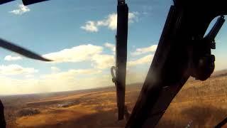 рой вертолетов стреляет в Хабаровском крае