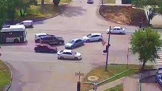 ДТП (авария г. Волжский) ул. Карбышева ул. Молодогвардейцев 24-07-2018 12-22