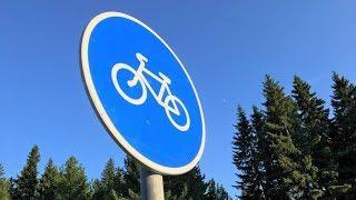 Полкилометра новой дороги в Нижневартовске оборудовали велодорожками со светодиодным освещением