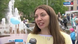 Сезон фонтанов открыли в Петрозаводске