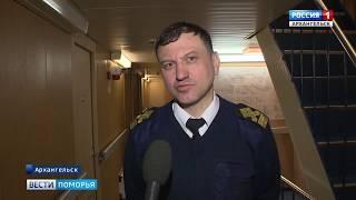 Сегодня в Архангельске начались работы по разрушению и спуску льда