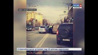 В Чебоксарах сотрудники ГИБДД устроили погоню за пытавшимся скрыться BMW
