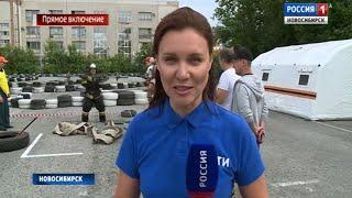Пожарные и спасатели провели экстремальные состязания на стадионе Спартак