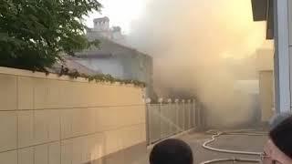 Пожар на улице Октябрьской в Пятигорске