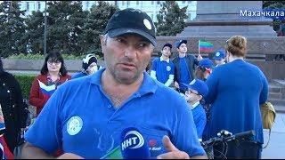 Грузинский велопутешественник Нодар Беридзе добрался до Махачкалы