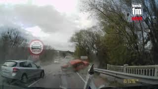 На Керченской трассе произошла авария, есть пострадавшие (момент ДТП)