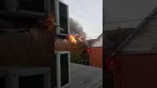 Пожар на Ростовском море 10.11.2018
