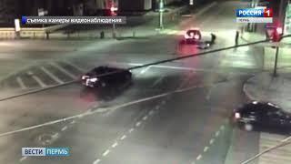 Мотоциклист врезался в выехавшую на красный свет иномарку