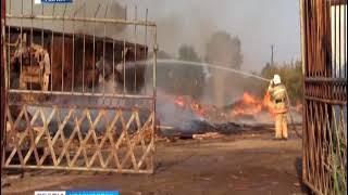 На канской лесопилке ликвидирован крупный пожар