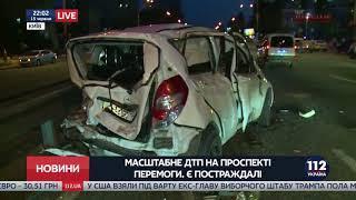 Масштабное ДТП в столице: столкнулись 5 легковых авто и грузовик