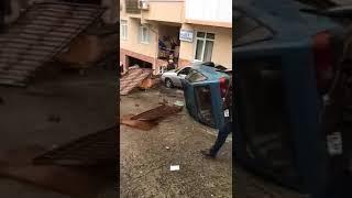 ДТП в Сочи. На Виноградной перевернулось авто. 04.03.18