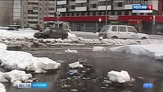 В Петрозаводске затопило несколько улиц