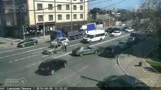 ДТП на ул. Суворова и ул. Ленина 06.04.2018