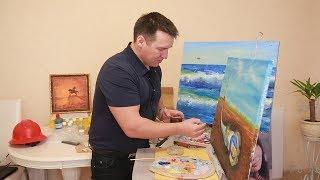 UTV. Уфимец Марсель Шайдуллин рисует картины нефтью