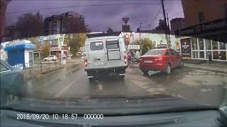 20.09.2018 Момент ДТП на ул. Орджоникидзе Ижевск