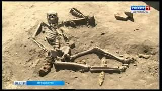В Астраханской области специалистам в раскопках помогают юные энтузиасты