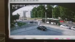 ДТП, в котором погиб мотогонщик Андрей Бессонов. Запись с камеры