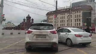 ДТП в Туле на пересечении пр.Ленина и ул.Советской