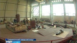 Монтаж турбины на стройке Усть Среднеканской ГЭС