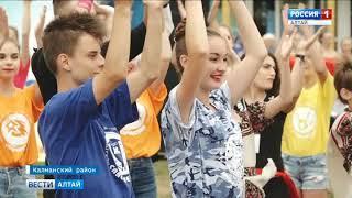 В лагере «Крылатых» открылась Международная летняя деревня «Алтай»