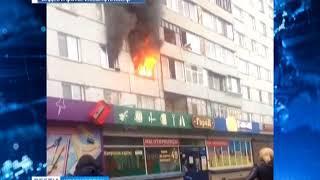 В многоэтажке на Металлургов загорелась квартира